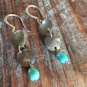 Silpada Sterling silver bronze turquoise earrings